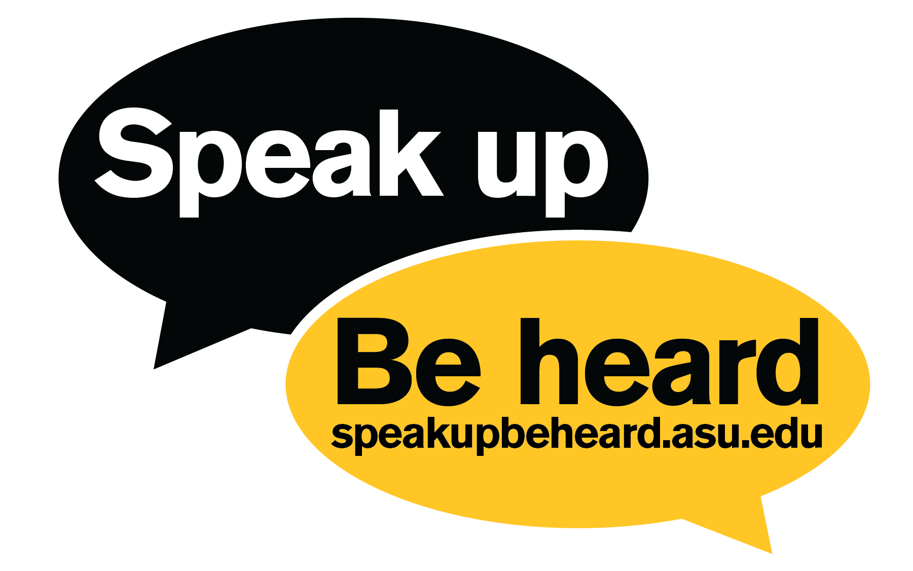 ASU Staff Council Speak up Be heard graphic element
